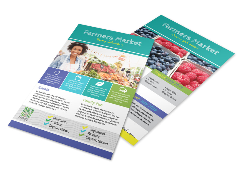Beautiful Farmers Market Flyer Template