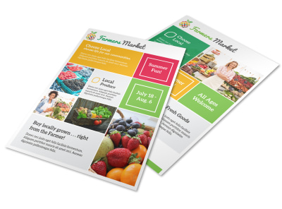 Fun Farmers Market Flyer Template preview