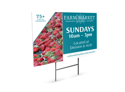 Farmers Market Yard Sign Template preview