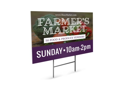 Fresh Farmers Market Yard Sign Template preview