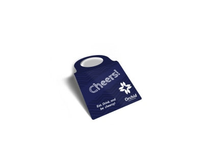 Cheers Wine Bottle Tag Template preview