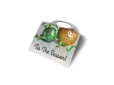 Seasonal Wine Bottle Tag Template preview