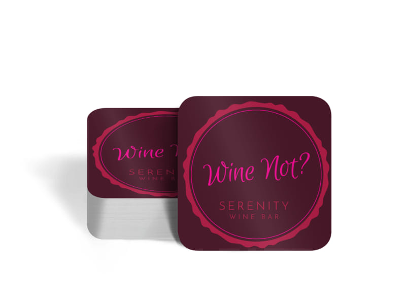 Wine Not Coaster Template