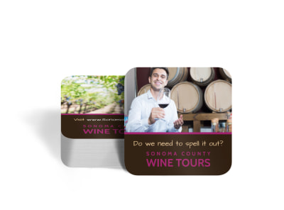Wine Tour Coaster Template preview