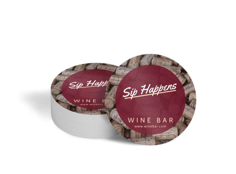 Sip Happens Bar Coaster Template
