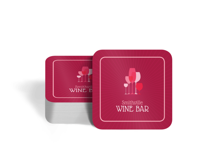Pink Wine Coaster Template Preview 1