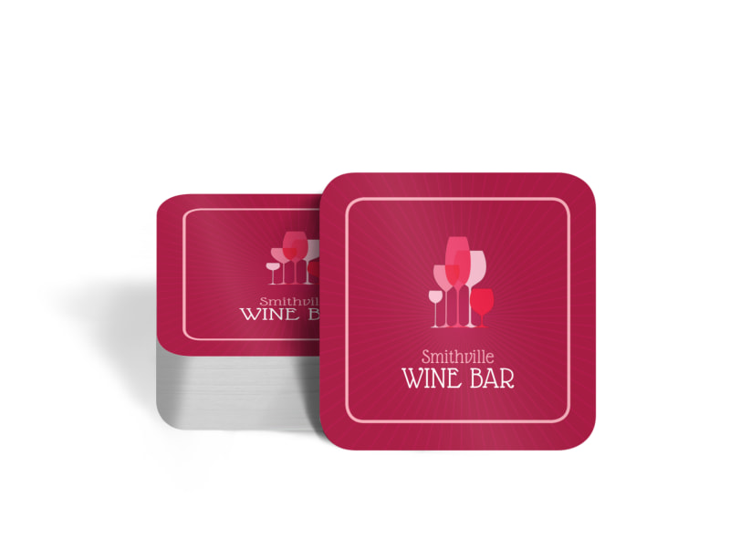 Pink Wine Coaster Template Preview 4