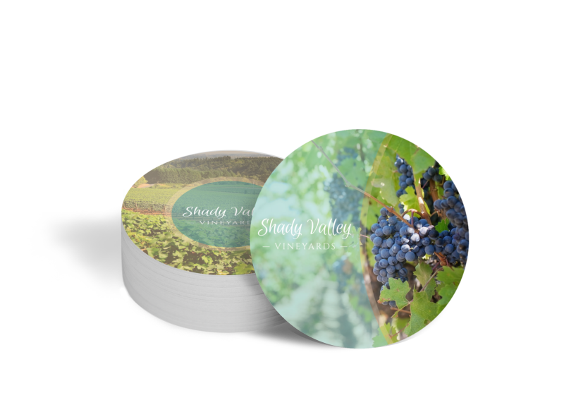 Shady Valley Wine Coaster Template Preview 1