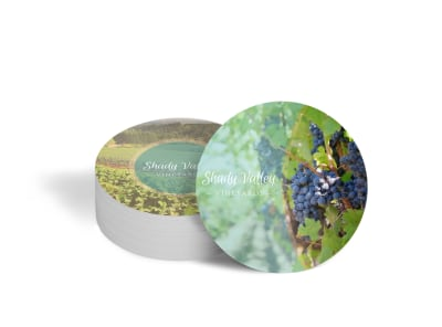 Shady Valley Wine Coaster Template preview