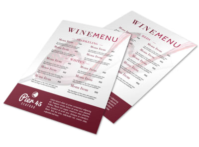 Simple Wine Menu Template