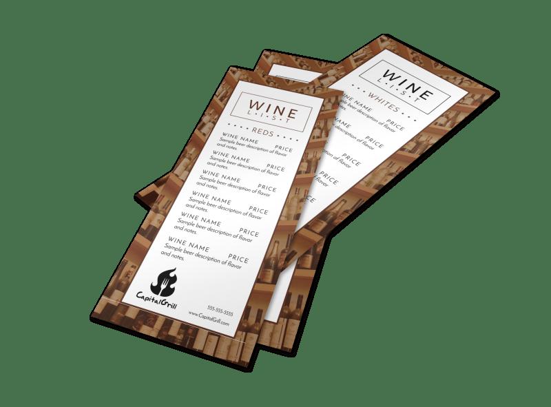 Classic Wine List Menu Template Preview 1