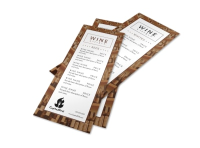 Classic Wine List Menu Template preview