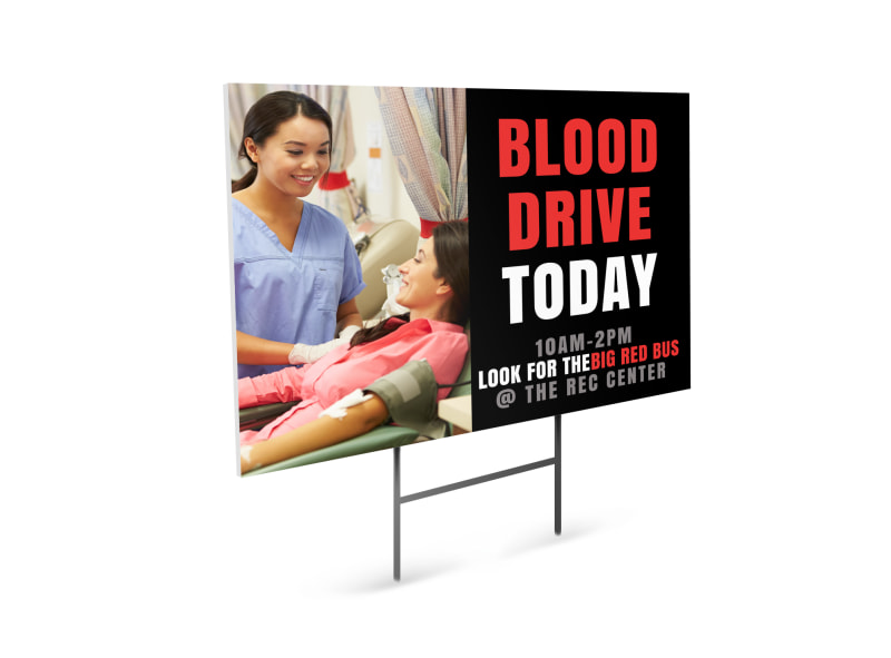 Blood Drive Today Yard Sign Template