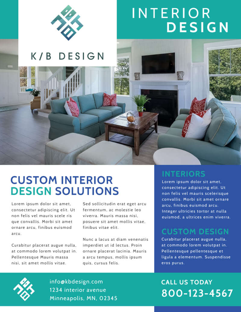 Simple Interior Design Flyer Template Preview 2