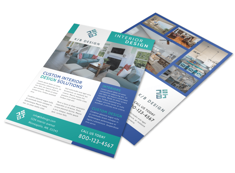 Simple Interior Design Flyer Template Preview 1