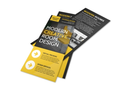 Modern Interior Design Flyer Template preview