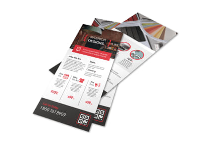 Pro Interior Design Service Flyer Template preview