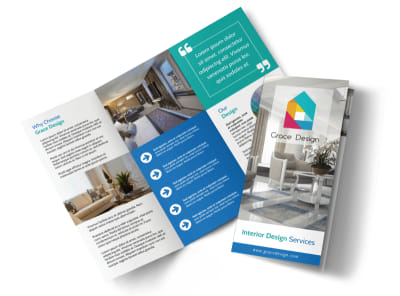 Interior Design Service Tri-Fold Brochure Template preview