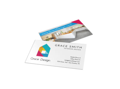 Simple Interior Design Business Card Template preview