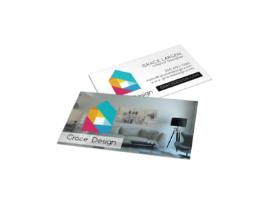 Creative Interior Designer Business Card Template preview