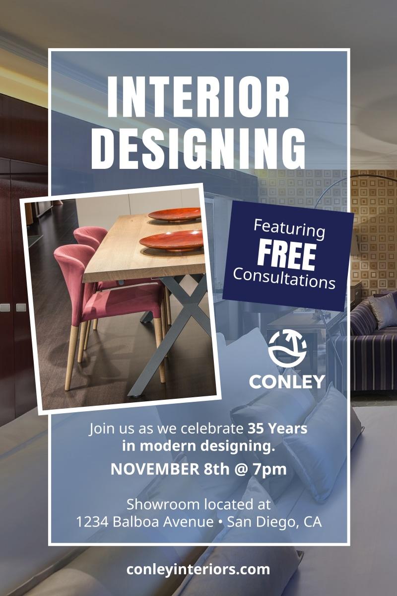 interior design consultation poster template. Black Bedroom Furniture Sets. Home Design Ideas