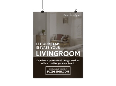 Interior Design Poster Template preview