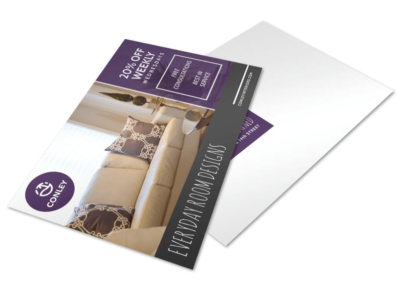 Interior Design Promo Postcard Template
