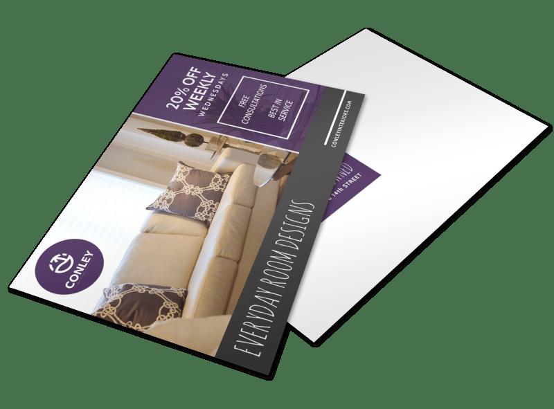 Interior Design Promo Postcard Template Preview 1