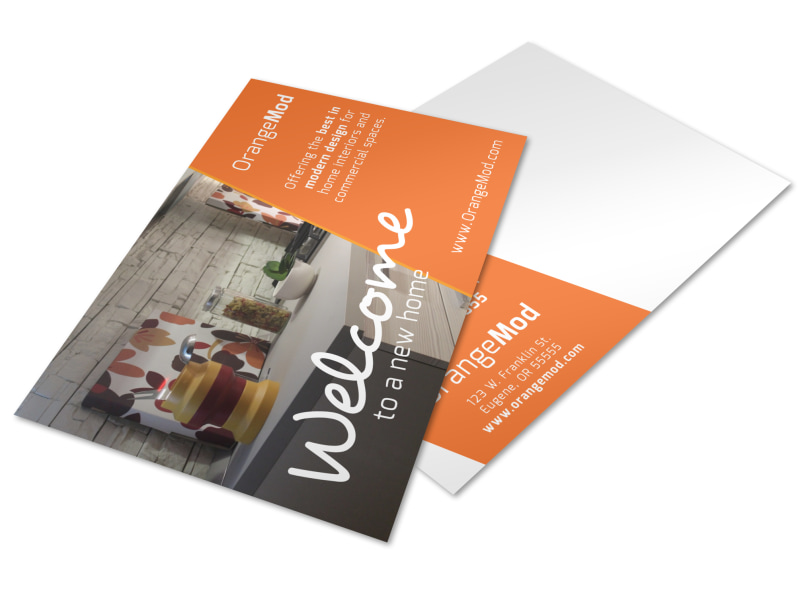 Interior Design Welcome Postcard Template Preview 4
