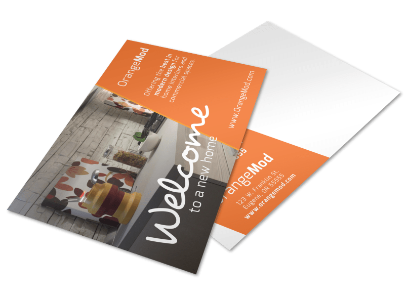 Interior Design Welcome Postcard Template Preview 1