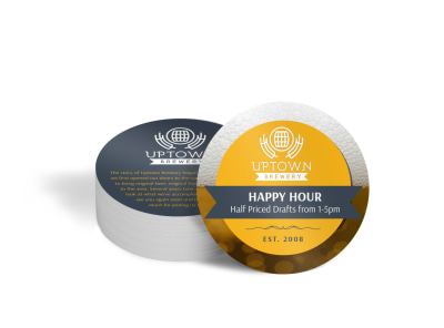 Happy Hour Promotional Coaster Template preview