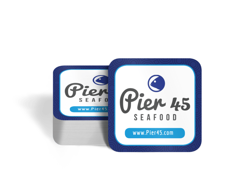 Seafood Coaster Template Preview 1