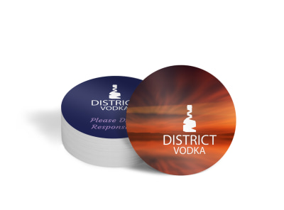 Colorful Vodka Coaster Template preview