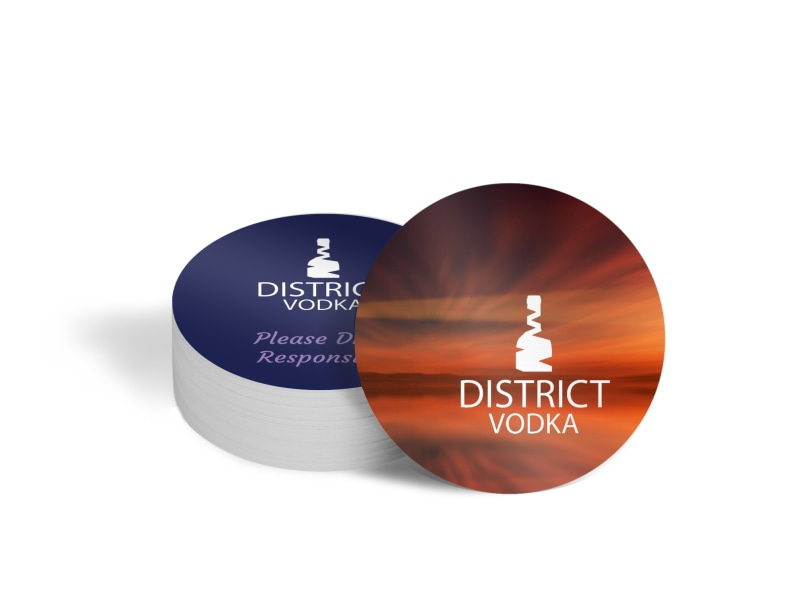 Colorful Vodka Coaster Template