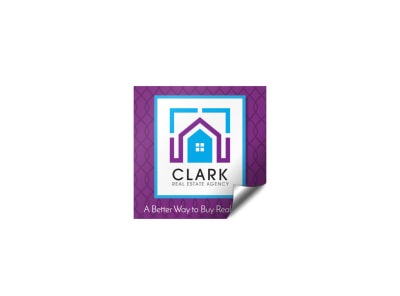 Promotional Real Estate Sticker Template