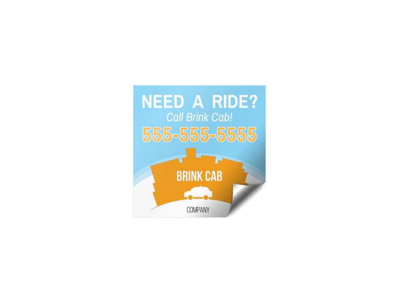 Cab Sticker Template Preview 1