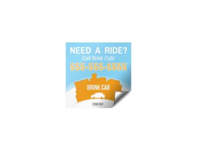 Cab Sticker Template