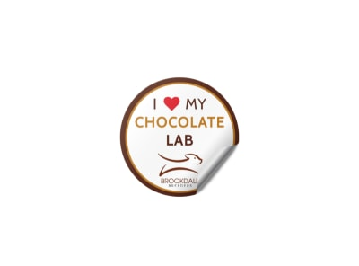 Chocolate Lab Sticker Template preview