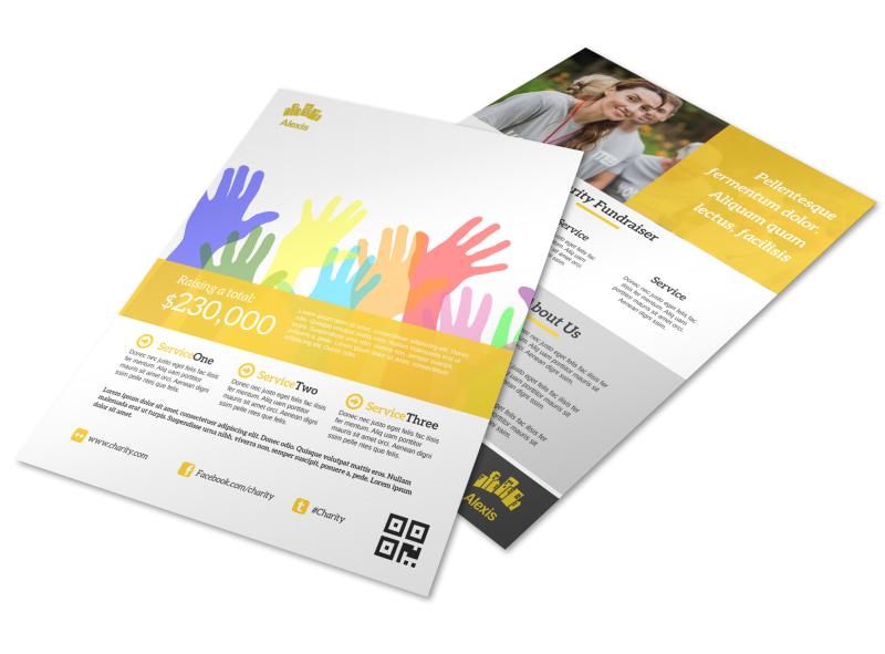 yellow charity flyer template mycreativeshop