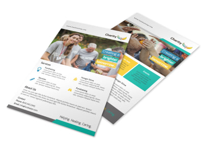 Awesome Charity Flyer Template preview