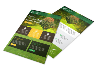 Green Charity Flyer Template preview