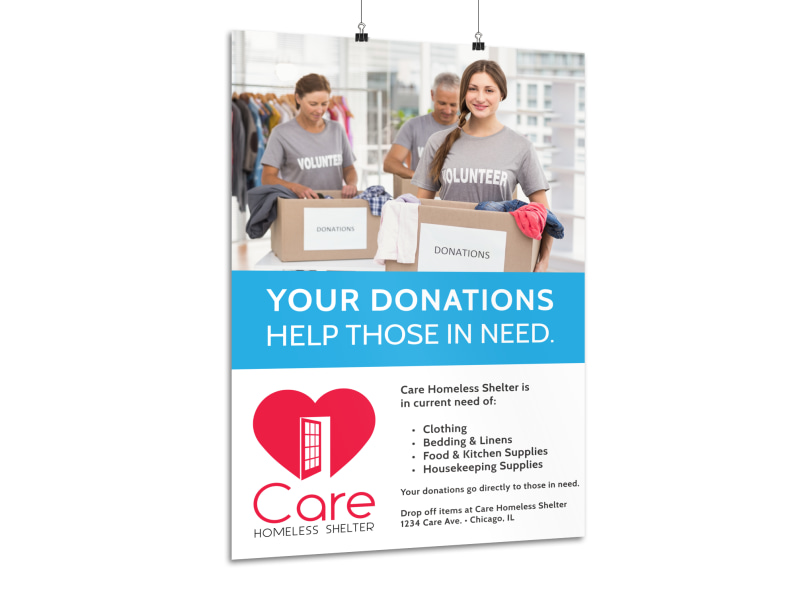 Charity Donation Poster Template