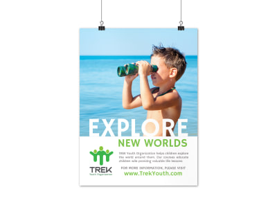 Explore Charity Poster Template preview