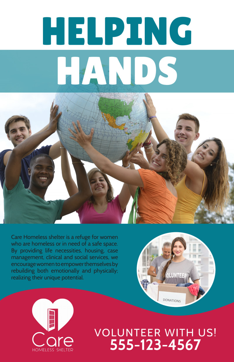 Helping Hands Charity Poster Template Preview 2