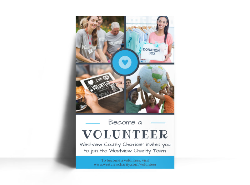 Volunteer Charity Poster Template Mycreativeshop