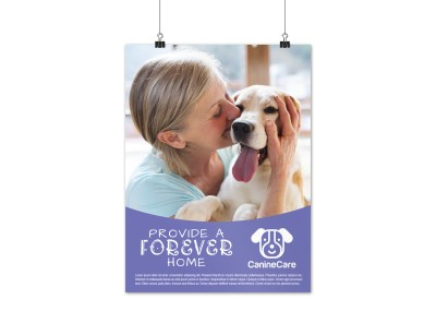 Dog Charity Poster Template