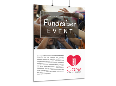 Charity Fundraiser Event Poster Template preview