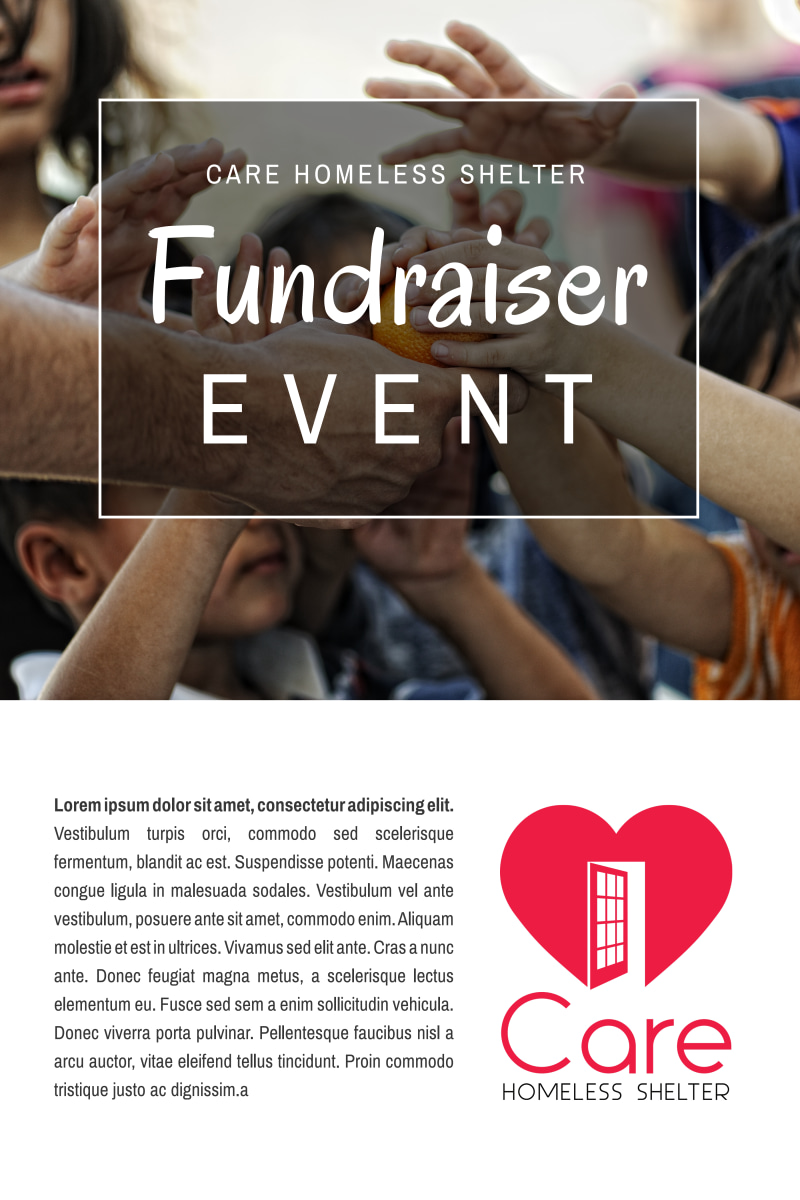 Charity Fundraiser Event Poster Template Preview 2