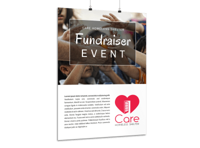 Charity Fundraiser Event Poster Template Preview 1