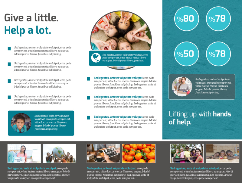 Bright Future Charity Tri-Fold Brochure Template Preview 3